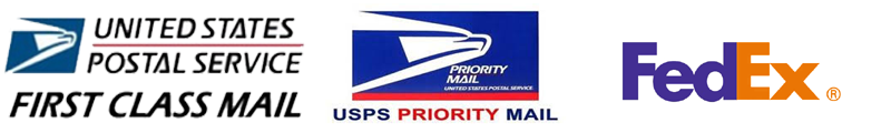 First Class Mail - USPS Priority Mail - FedEx