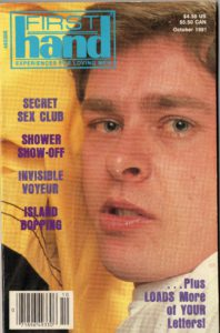 First Hand Experiences for Men (Volume 11 #10 1991 - Released October 1991) Gay Male Digest Magazine