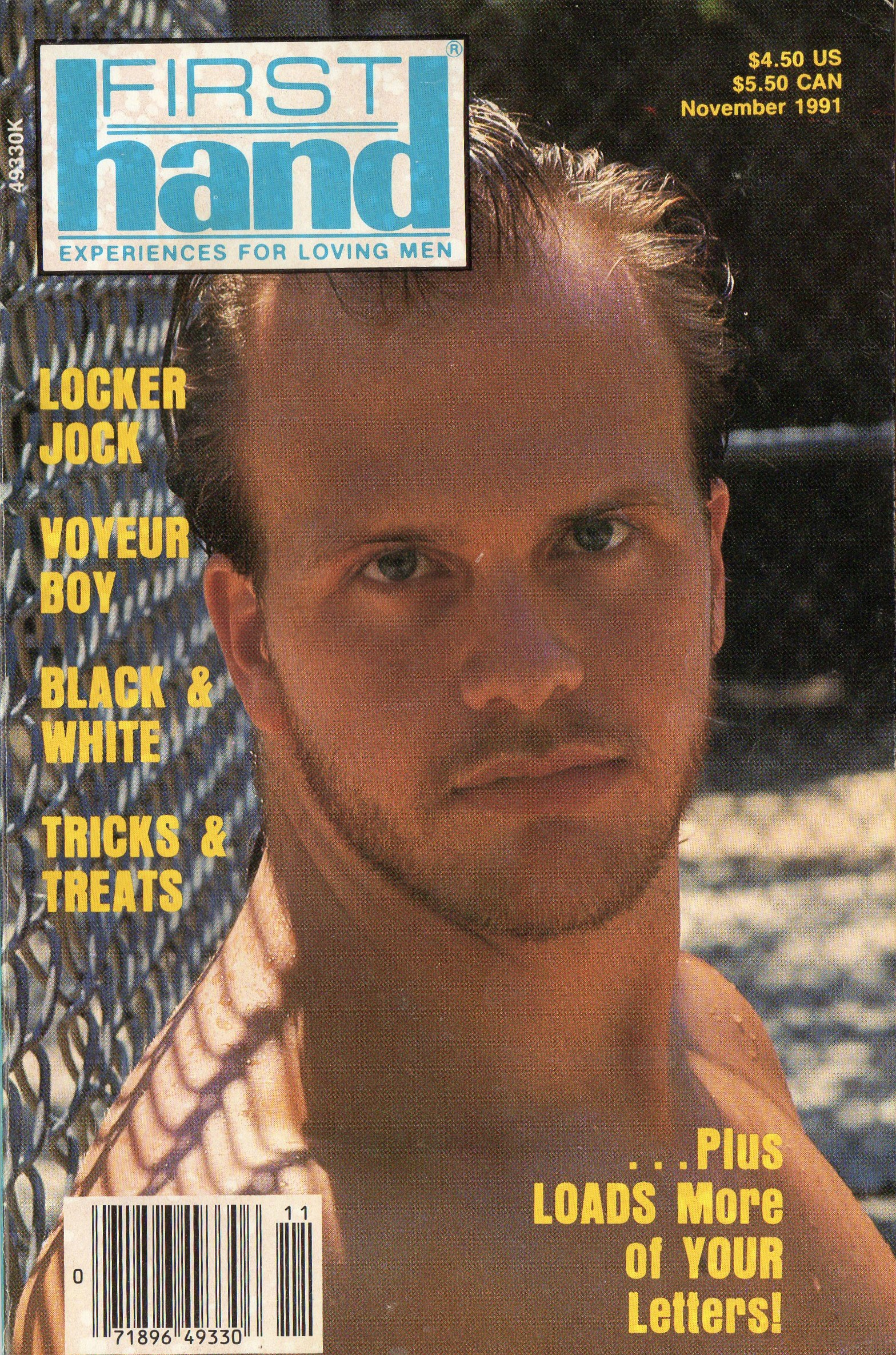 First Hand Experiences for Men (Volume 11 #11 1991 - Released November 1991) Gay Male Digest Magazine