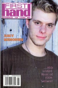 First Hand Experiences for Men (Volume 21 #5 2001 - Released August 2001) Gay Male Digest Magazine