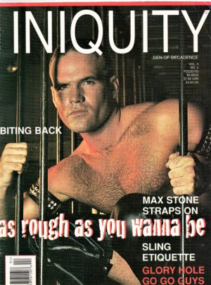 INIQUITY DEN OF DECADENCE (Volume 5 #4 - 1996) Gay Leather Fetish Magazine