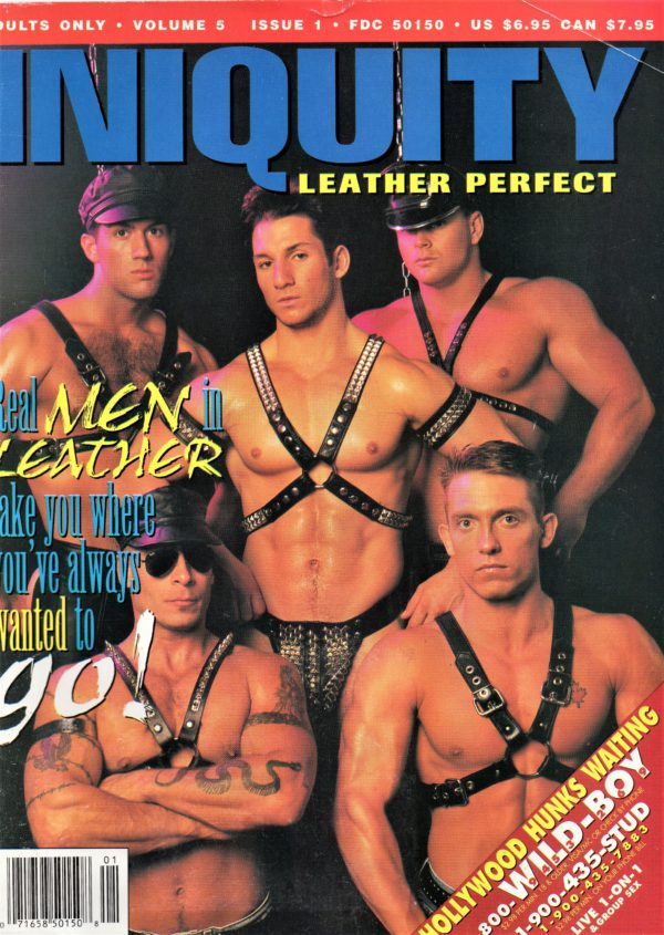 INIQUITY LEATHER PERFECT (Volume 5 #1 - Spring 1996) Gay Leather Fetish Magazine