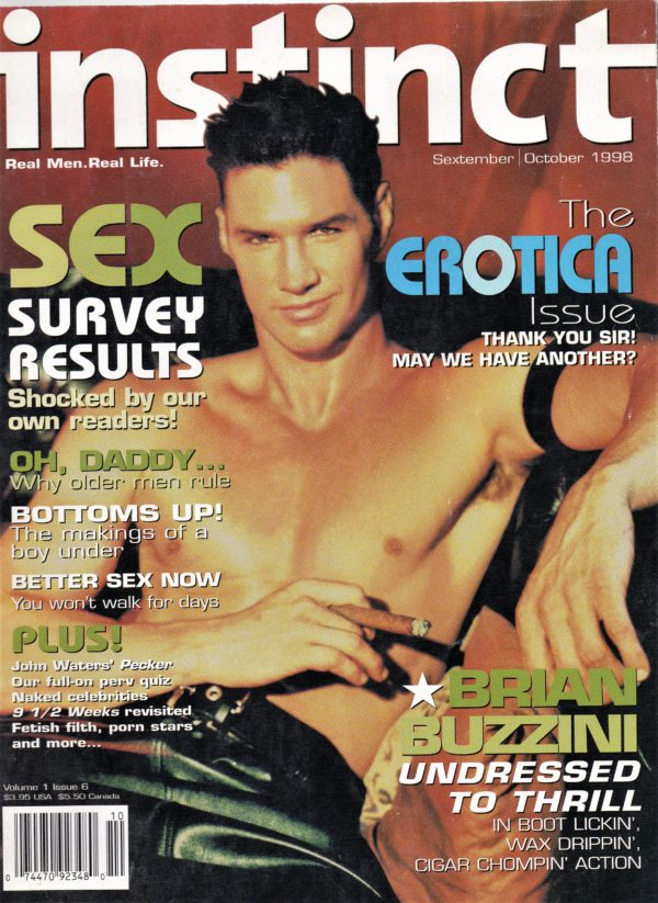 INSTINCT Magazine (Volume 1 #6 - September/October 1998) Gay Lifestyle Magazine