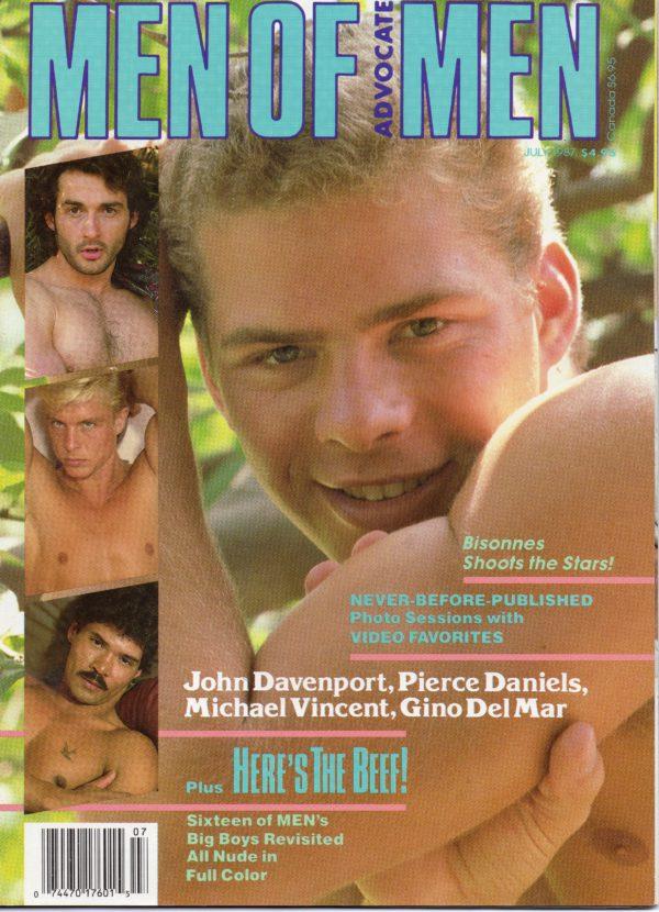 MEN OF ADVOCATE MEN Magazine (July 1987) Male Erotic Magazine