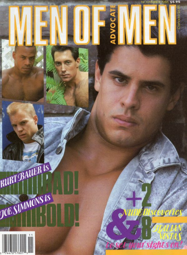 MEN OF ADVOCATE MEN Magazine (November 1988) Male Erotic Magazine