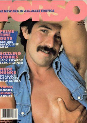 TORSO Magazine (March 1988) Gay Male Digest Magazine