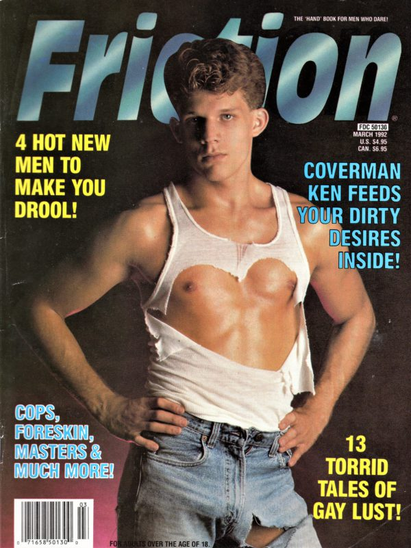 "FRICTION Magazine (March 1992) The ""Hand"" Book for Men Who Dare!"
