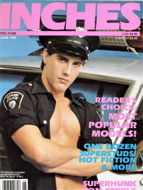 INCHES Magazine (June 1989) Gay Pictorial Lifestyle Magazine