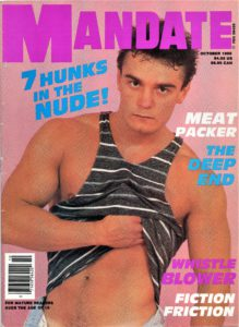 MANDATE Magazine (October 1988) Gay Pornographic Publication