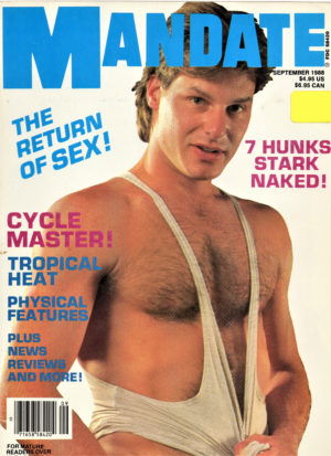 MANDATE Magazine (September 1988) Gay Pornographic Publication