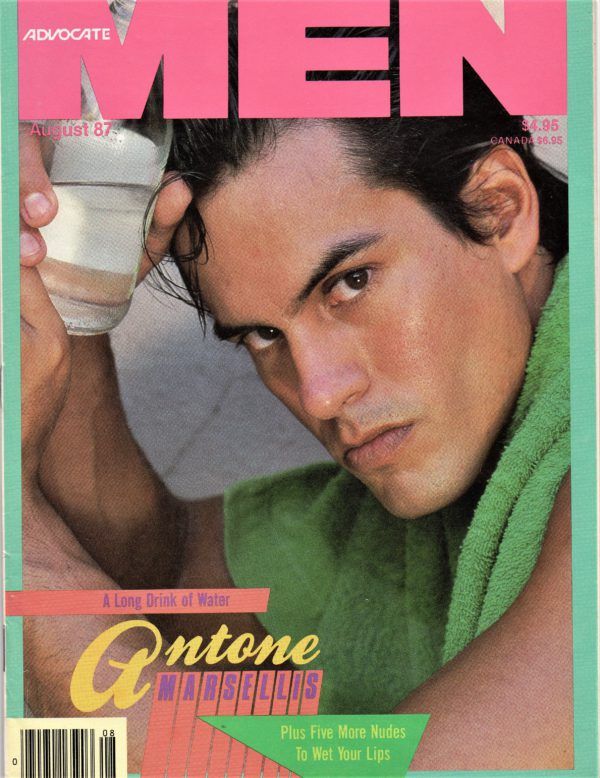 ADVOCATE MEN Magazine (August 1987) Male Erotic Magazine