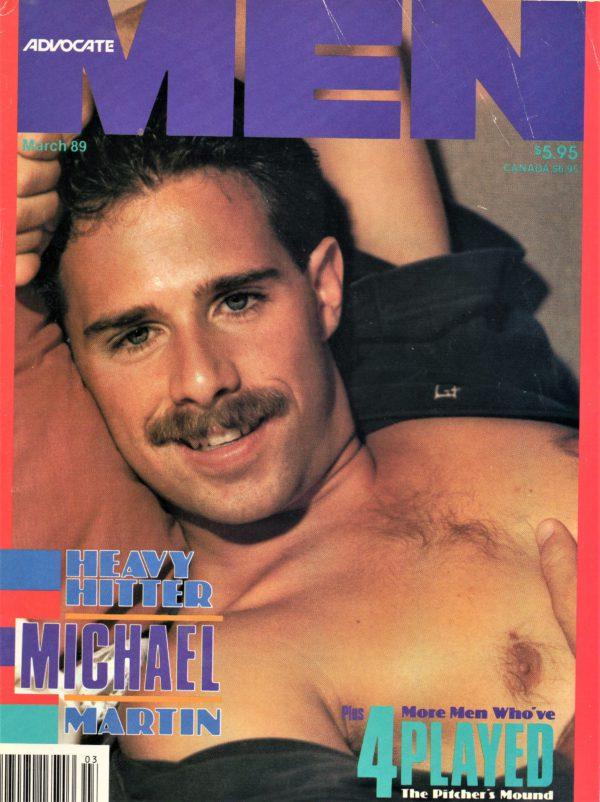 ADVOCATE MEN Magazine (March 1989) Male Erotic Magazine