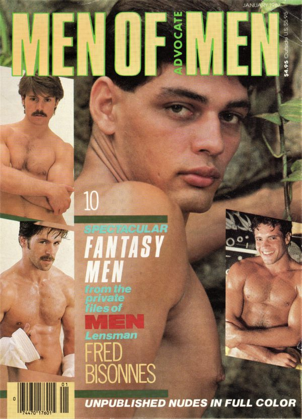MEN OF ADVOCATE MEN Magazine (January 1987) Male Erotic Magazine