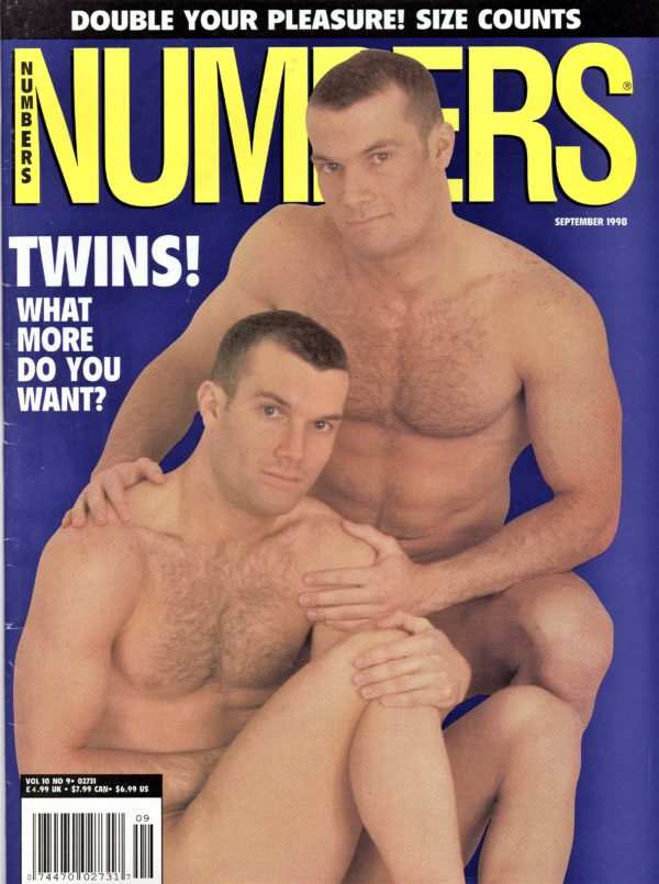 NUMBERS Magazine (September 1998, Volume 10, Number 9) Erotic Men Magazine
