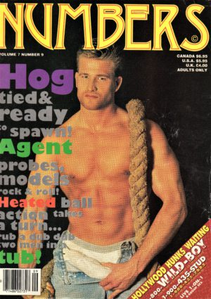 NUMBERS Magazine (September 1995, Volume 7, Number 9) Erotic Men Magazine
