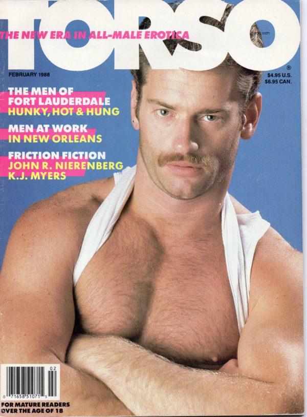 TORSO Magazine (February 1988) Gay Male Digest Magazine