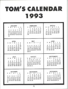 A Tribute to TOM OF FINLAND 1993 CALENDAR