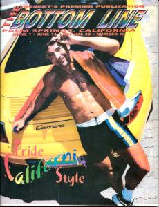 The BOTTOM LINE (June 2001) Desert's Gay Publication, Palm Springs, CA