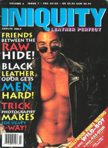 INIQUITY LEATHER PERFECT (Volume 4 #7 - 1995) Gay Leather Fetish Magazine