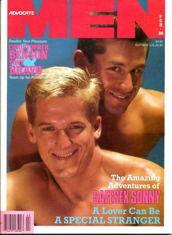 ADVOCATE MEN Magazine (February 1986) Male Erotic Magazine