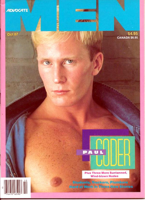 ADVOCATE MEN Magazine (October 1987) Male Erotic Magazine