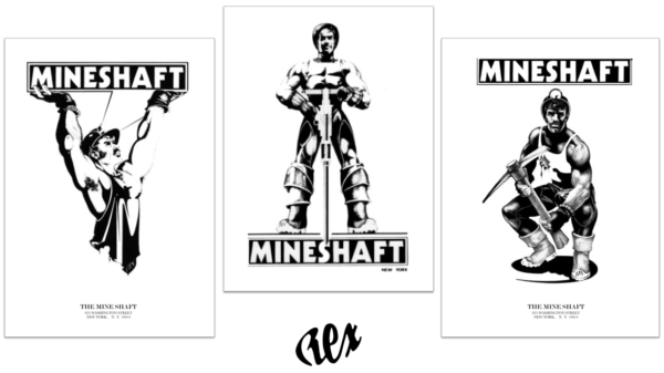 REX - Set of 3 Legendary Remastered MINESHAFT Posters Size 11x17 printed under the supervision and approval of Rex.