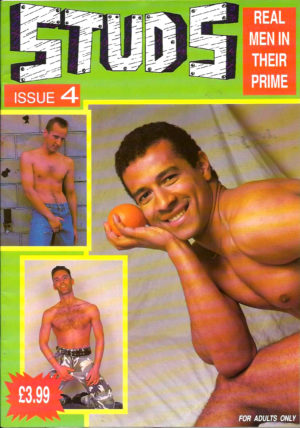 STUDS (Issue 4) Full Color Glossy - Gay Pornographic Magazine