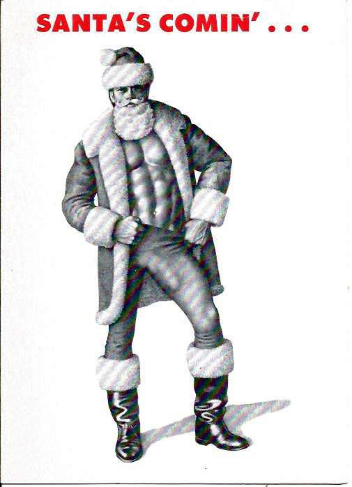 Tom of Finland: SANTA'S COMIN'... (Christmas Card 1983)