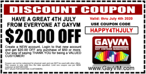 Happy 4th July Discount Coupon - $20 OFF any purchase of $50 or more