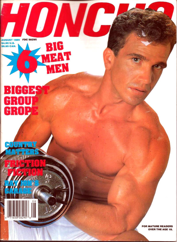 HONCHO Magazine (August 1989) Gay Male Digest Magazine