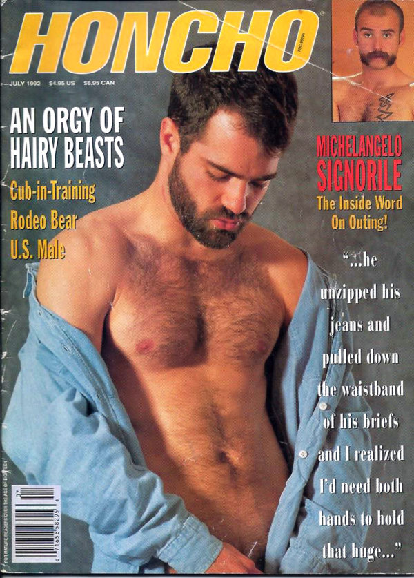 HONCHO Magazine (July 1992) Gay Male Digest Magazine