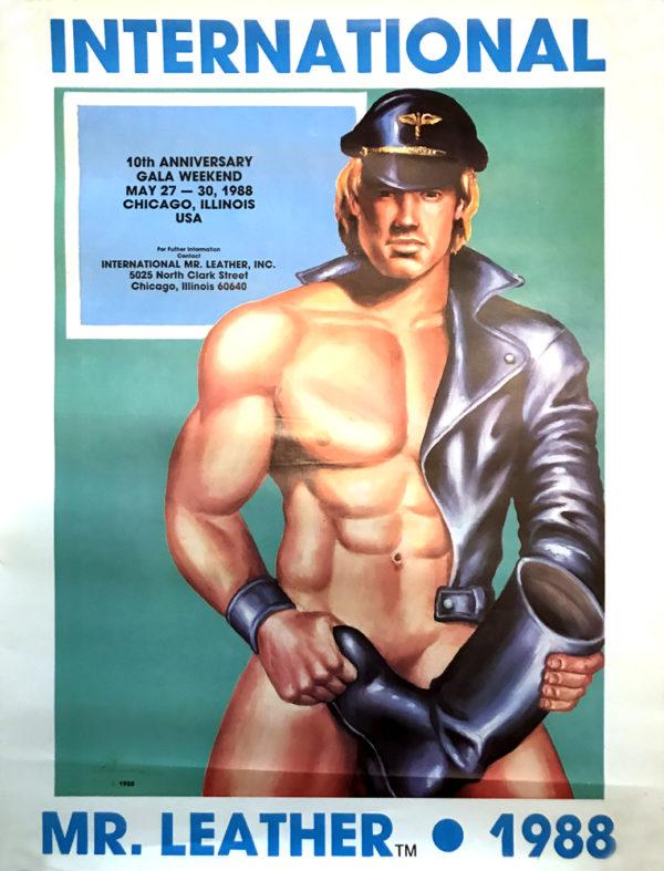 "Vintage International MR.LEATHER 1988 Poster 22x17"""