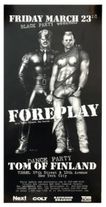 Tom of Finland - FOREPLAY - 1999 Black Party Poster 22x11.5""