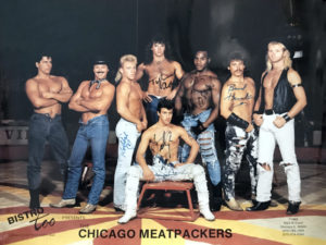 Vintage Signed CHICAGO MEATPACKERS Color Poster 20x14""