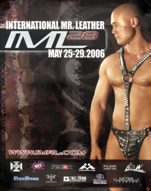 International Mr. Leather IML28 - 2006 Vintage Gay Poster 24x18""