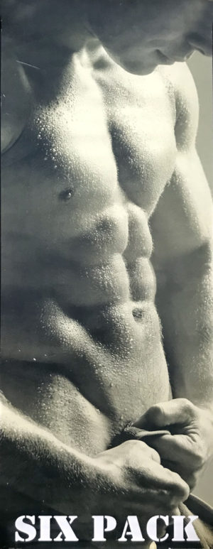 SIX PACK - Male Torso - WALL Art 36x12""