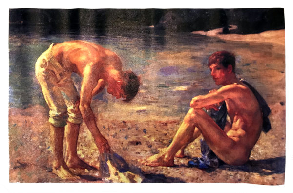 """Skinny Dipping - Oil Canvas Print 22x14"""""""