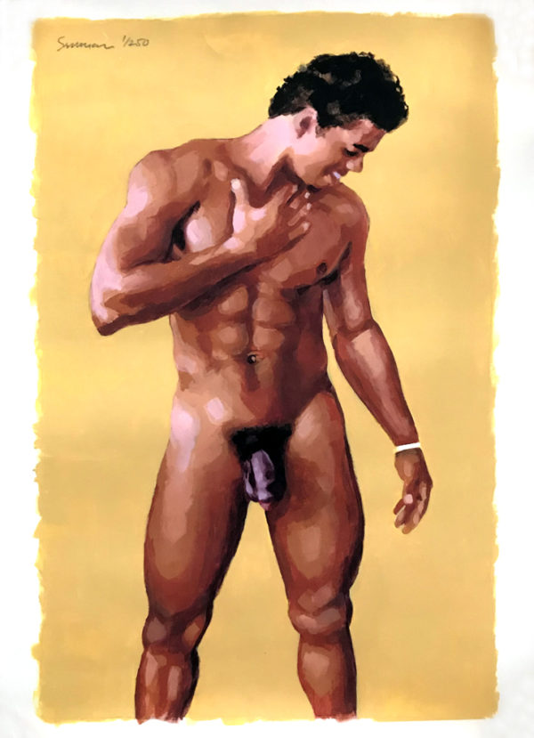 "Douglas Simonson - Naked Adonis - YELLOW Print 19x13"" 1/250"