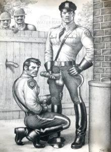 "Tom of Finland - Police Blowjob - Tom 78 - Print 19.5x13.5"""