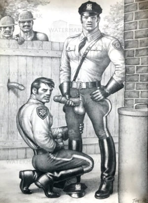 Tom of Finland - Police Blowjob - Tom 78 - Print 19.5x13.5""