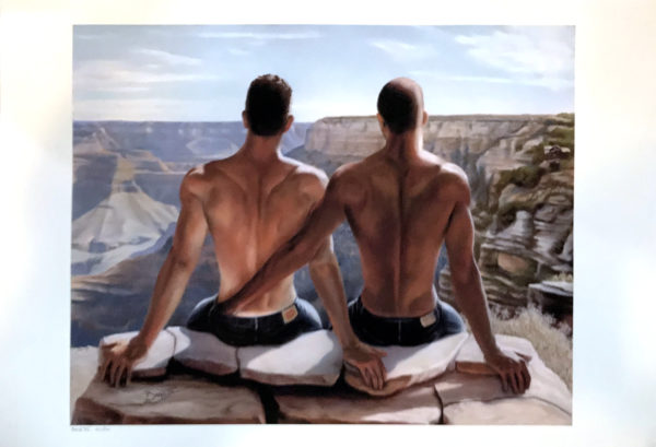 Grand Canyon Lovers - Vintage Print 19x13""
