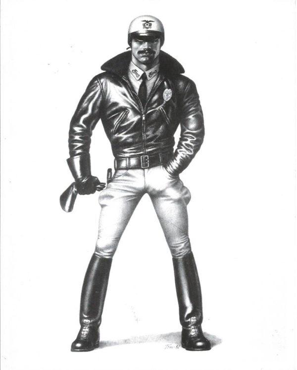 "Tom of Finland - Biker Cop - Tom 81 - Print 10x8"""