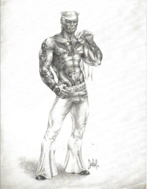 "Tom of Finland - Tattoo Navy Sailor - Jakal - Print 11x8.5"""
