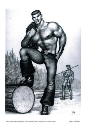 "Tom of Finland - Hung Lumberjack - Print 11.5x9.25"""