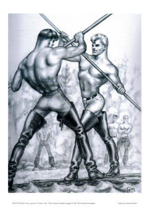 Tom of Finland - Leather Boots Joust - Print 11.5x9.25""