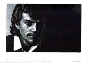 "Tom of Finland - Portrait of Robert Mapplethorpe - Tom 79 - Print 11.5x9.25"""