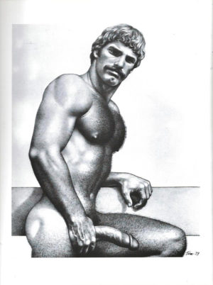 Tom of Finland - Blonde, Hung and Hairy - Tom 79 - Print 11.5x9.25""