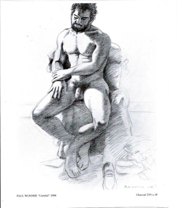 "Paul Wonner - 1984 - Print 11.x8.5"""