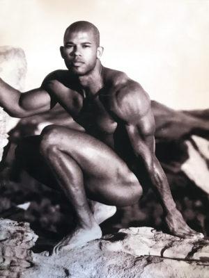 "Vintage Male Art Pose Photograph - 16x12"" Print"