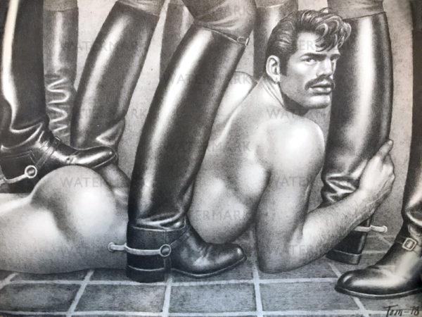 """Tom of Finland - BOOTS 1978 - 19.5 x 13.5"""" Print"""